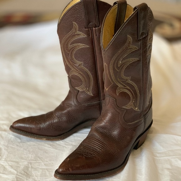 7121e385ed9 Justin Ropers Cowboy Boots Brown
